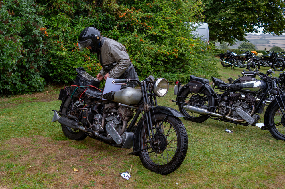 On the other hand, here's an everyday side-valve Brough Superior SS80, not in Concours condition but still a motorcycle for riding hard