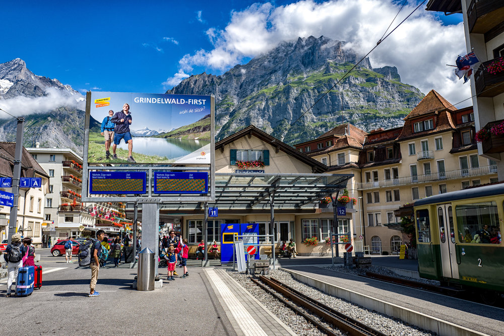 The Leica Q is one of my favourite Leicas of all time — a congenial and capable travel companion as I proved when I took it to the Berner Oberland in July 2105: Here is the impressive scene at Grindelwald station