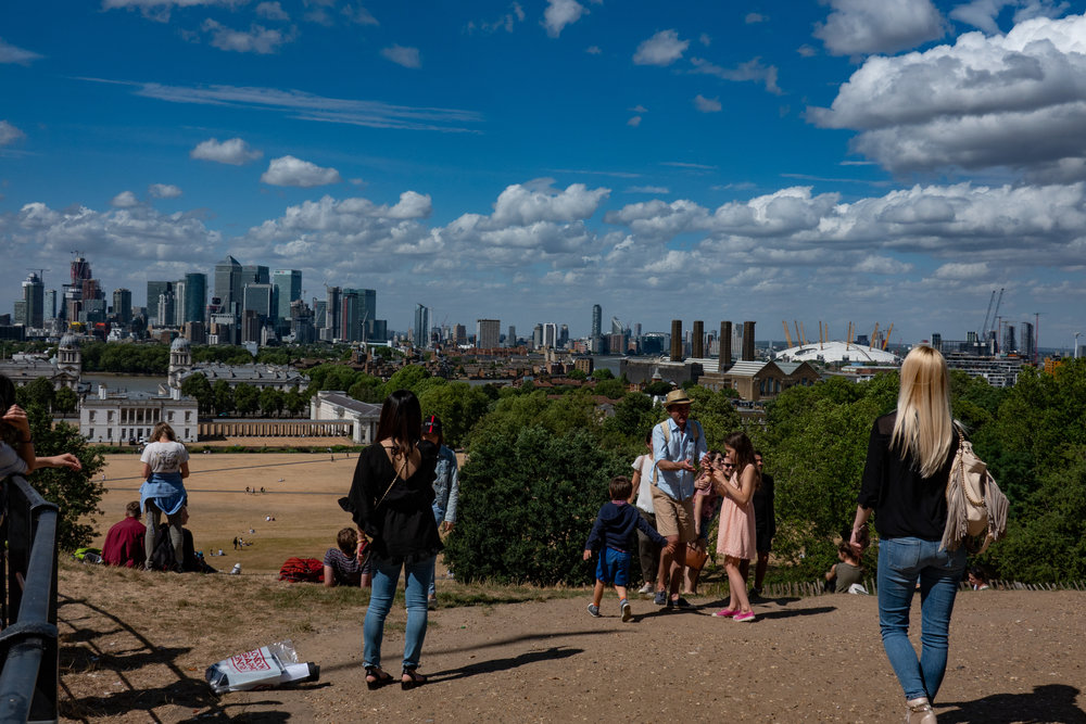 London Docklands and Canary Wharf from the Royal Observatory at Greenwich. Above 1/250 at f/5.6, 40mm. Below: At 1/1000s, f/5.6 and 45mm