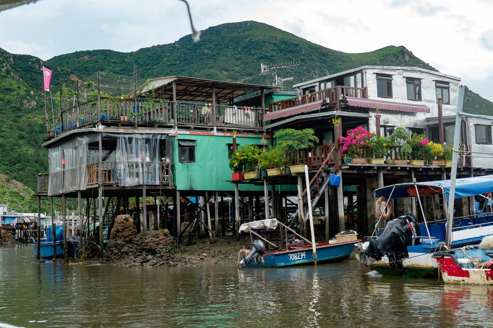 Stilt houses at Tai O fishing village, Lantau Island, 1/200s at f/5, 40mm