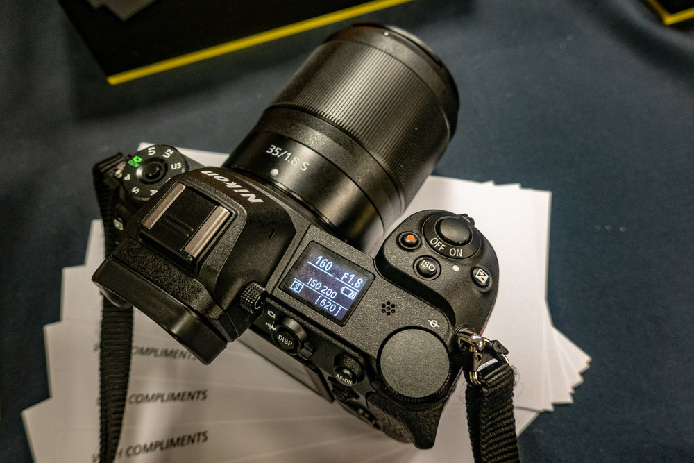 The Z7 is a well-built, ergonomically astute and good-looking piece of kit. Here with the 35mm f/1.8 prime. The Z6 is identical but has a 24MP sensor instead of the 7's 46MP