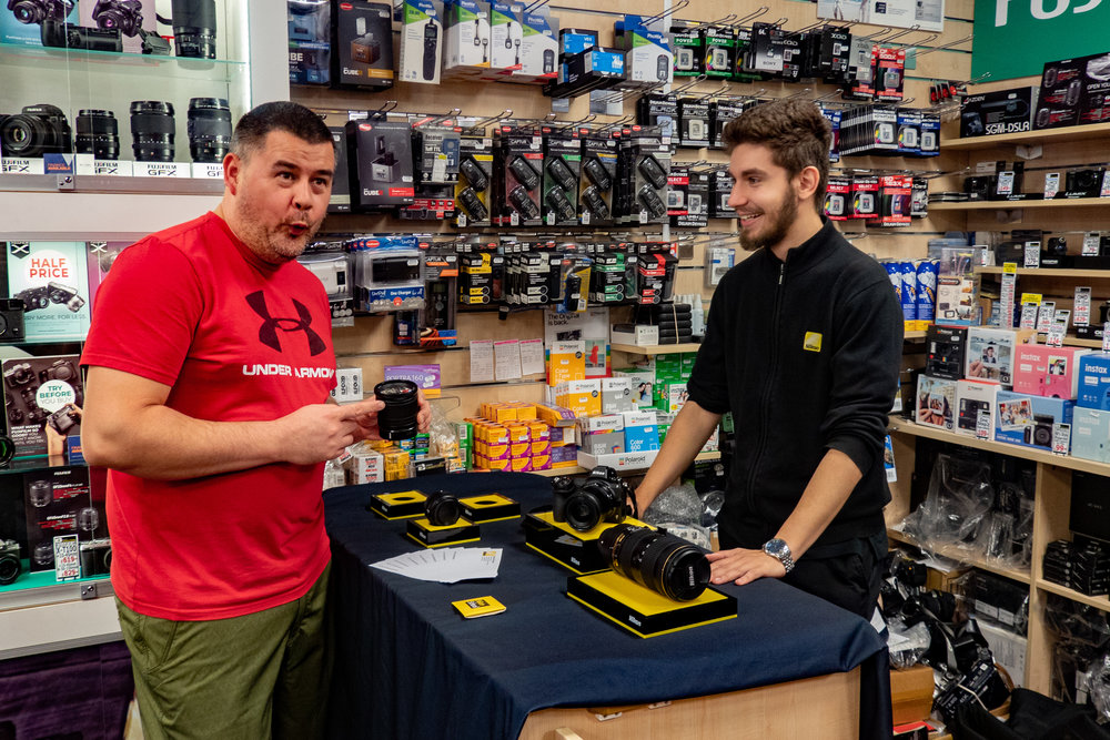 Nikon UK's Bruno impresses another Chiswick Camera Centre regular. Nikon's HQ is just down the road from CCC in Kingston-upon-Thames, so this is a home run for Bruno