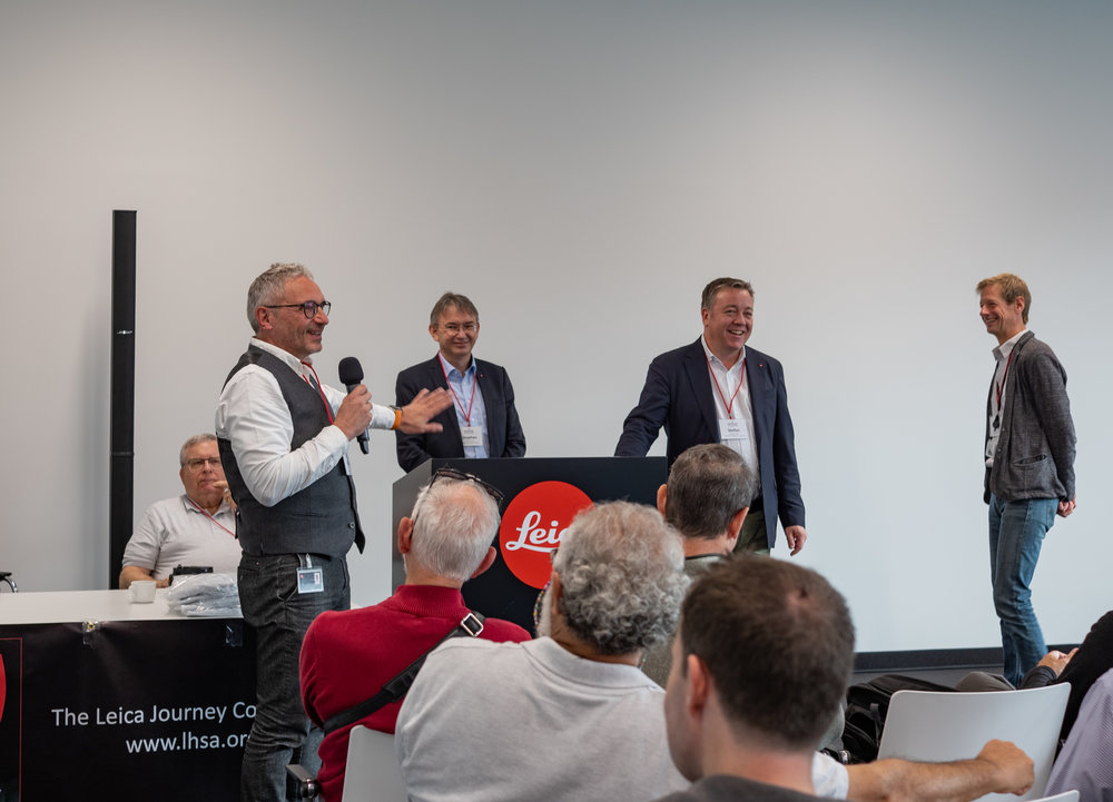 Question and answers from the guys who know — Peter Karbe, Stefan Schultz, Stefan Daniel and Jesko von Oeynhausen. Keeping an eye on proceedings from behind Peter Karbe is the new LHSA president, Alan Weinschel