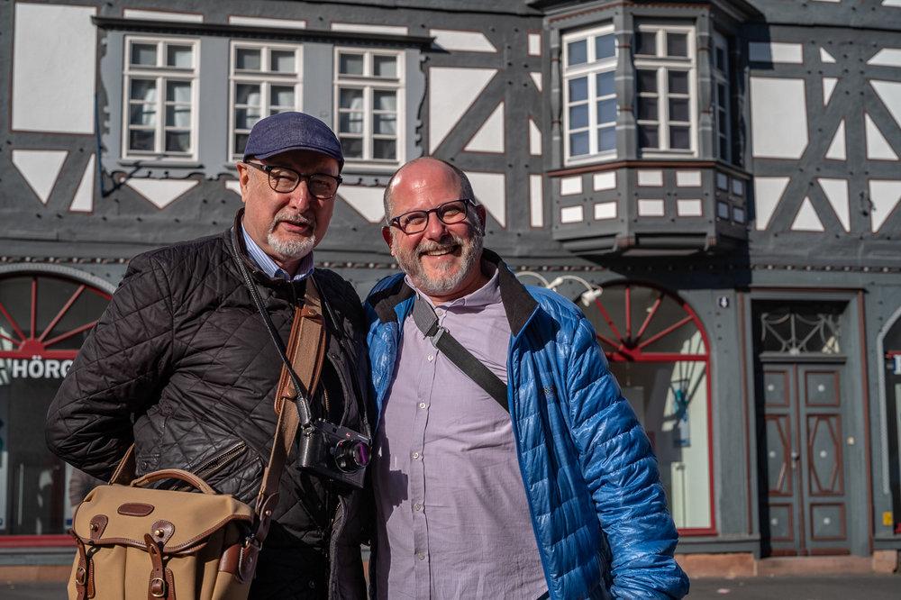Mike Evans with Dan Tamarkin in Marburg (Image Keith Walker)