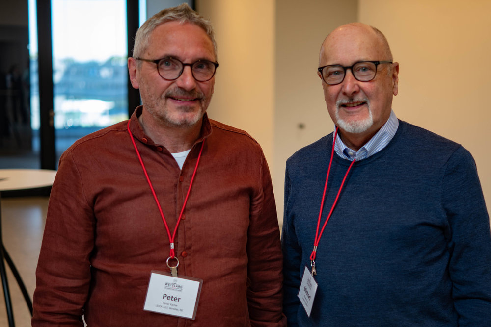 Peter Karbe with Macfilos editor Mike Evans at the Leitz Park