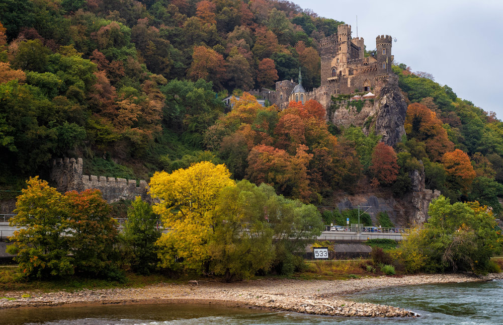 Rheinstein Castle on the Rhine, photo taken on LHSA Rhine Trip