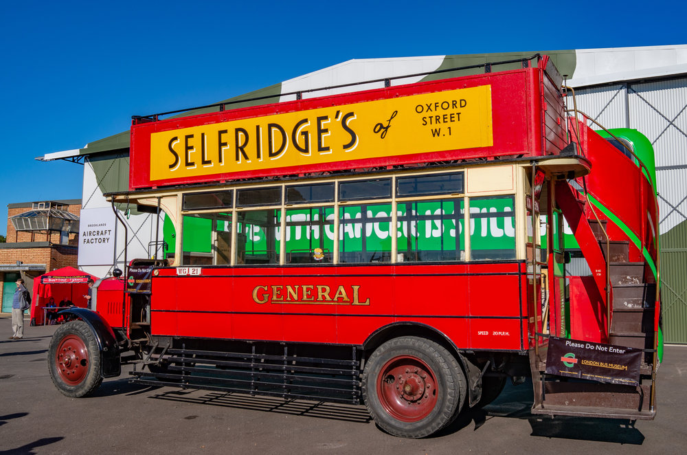 Mr. Selfridge: 1922 London General omnibus by made by Leyland (Leica X2)