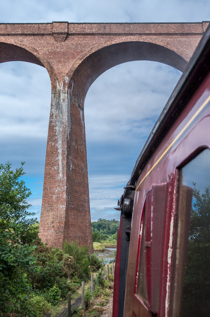 The view of Larpool from the North York Moors Railway.
