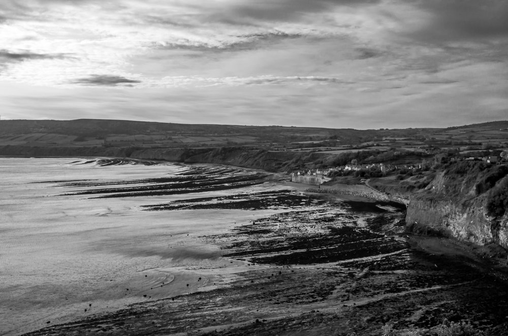 The view of Robin Hoods Bay from the Cleveland Way.