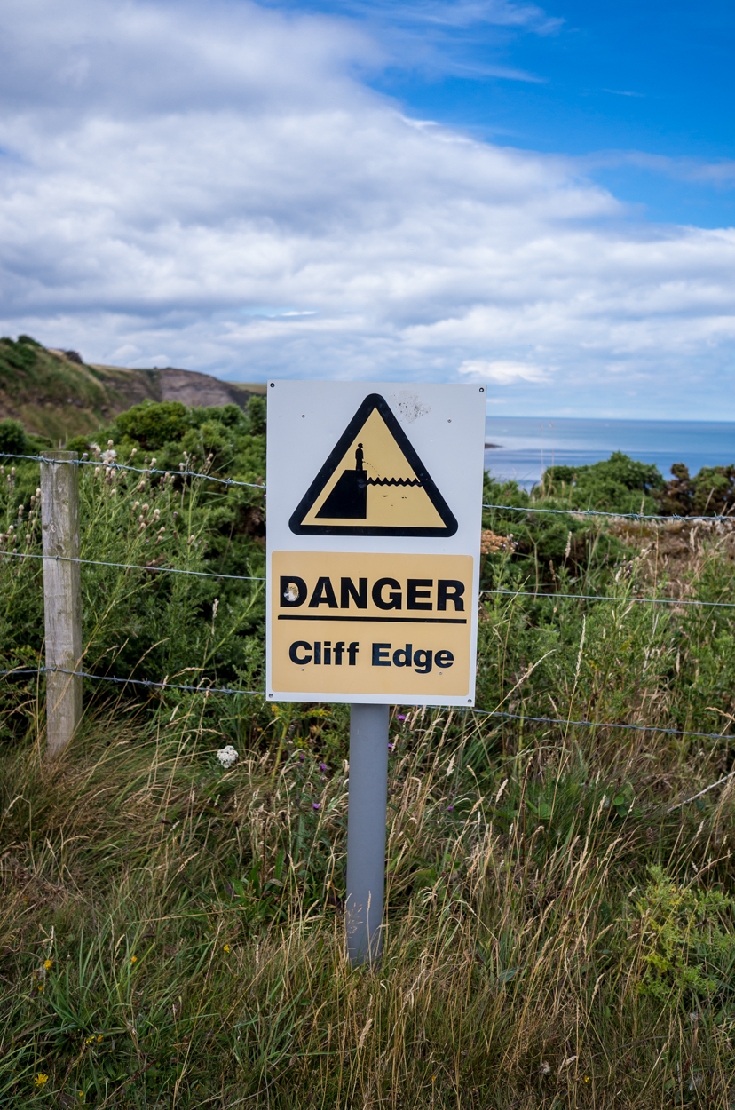 Remember you are on a cliff top