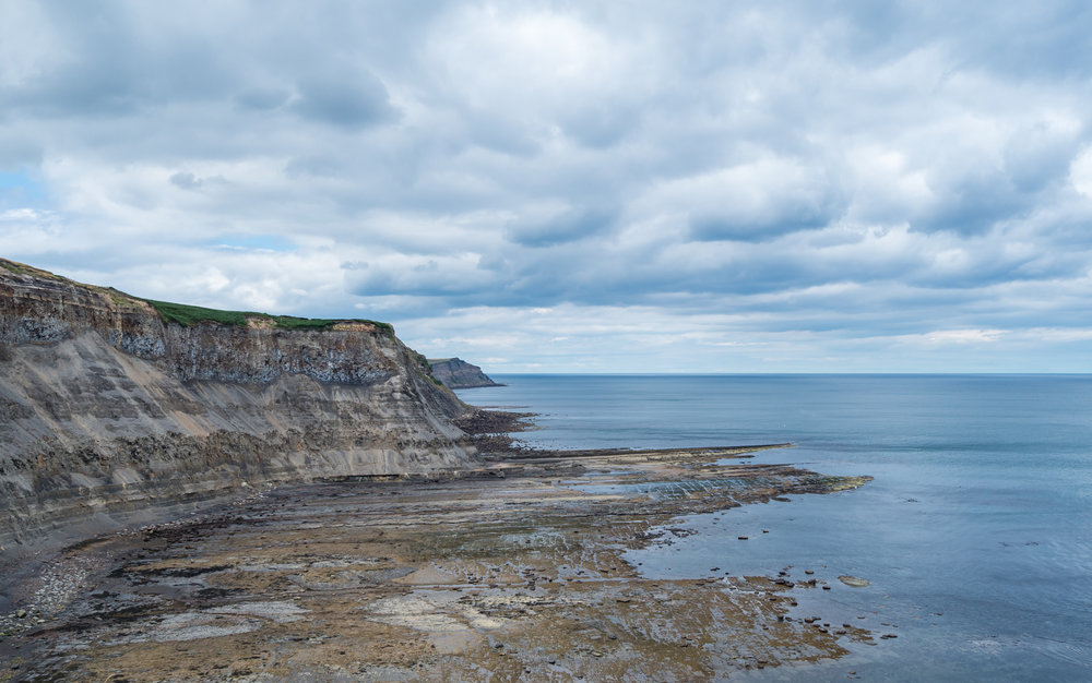The cliff top view
