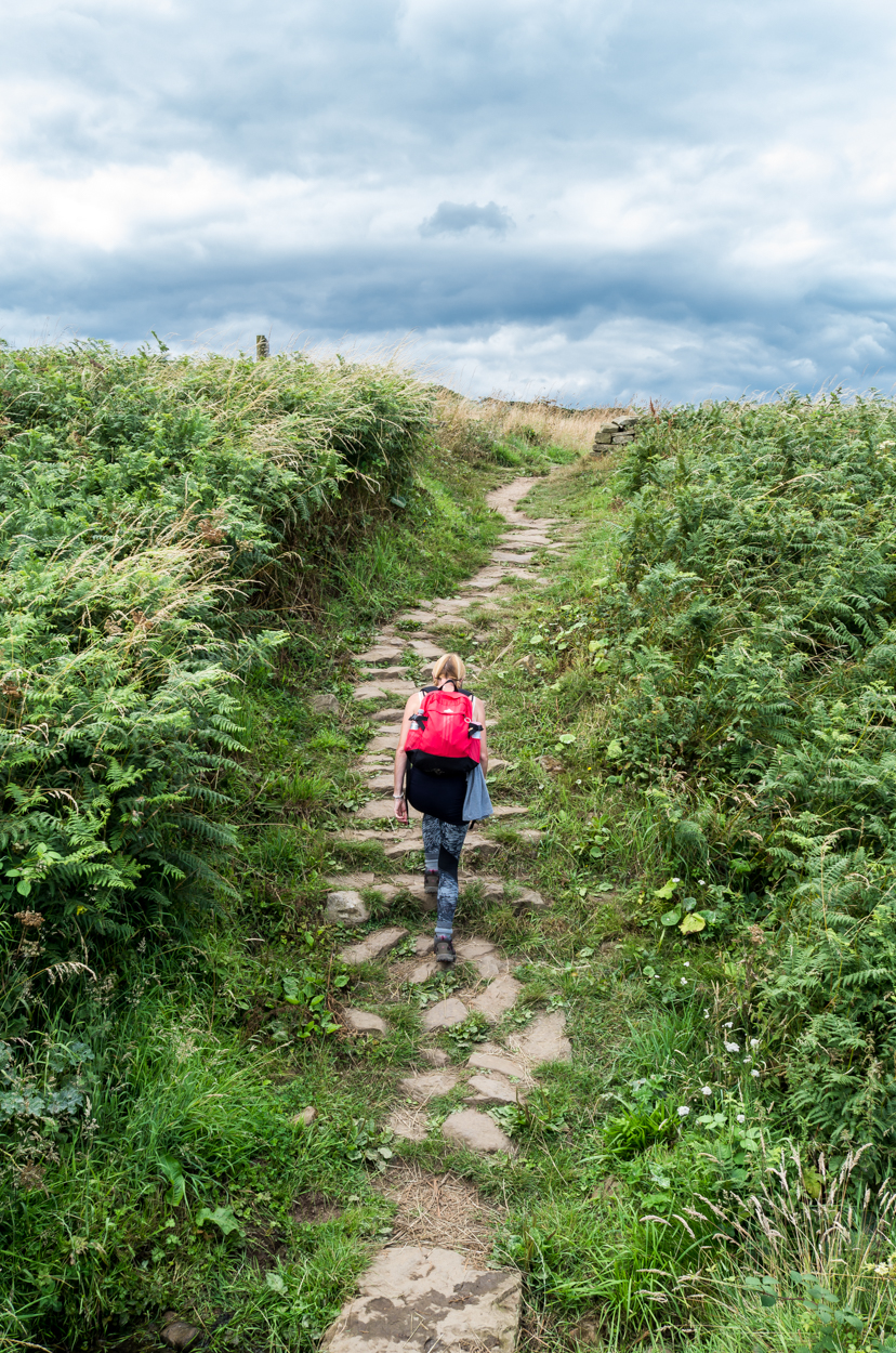 The marvellous stones steps and track that makes this an easier to navigate route