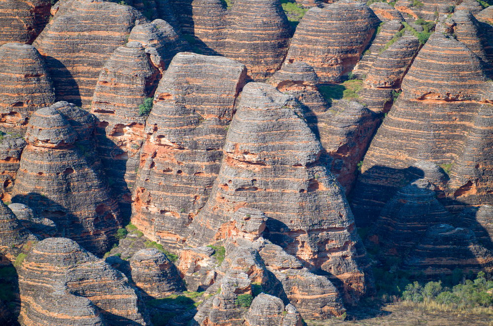 "The banded, ""beehive"" sandstone formations of the Purnululu National Park. Leica TL and 55-135mm lens."