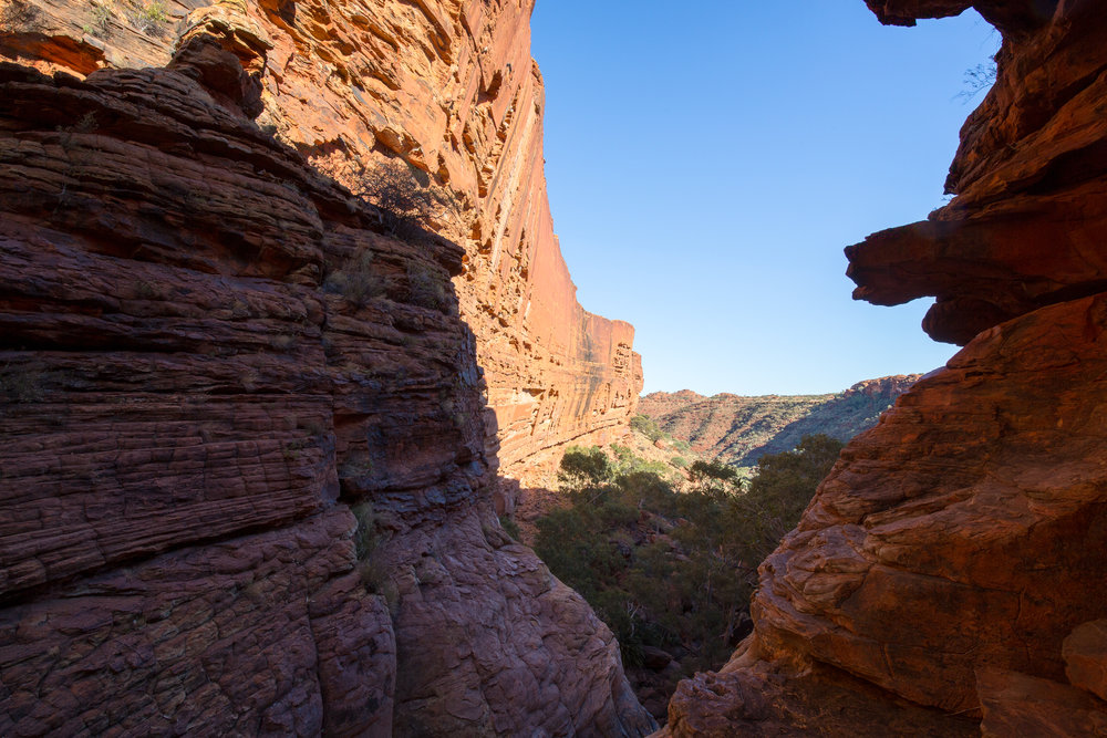 The transition from the narrower gorge into the broader Kings Canyon, Canon 5D III and 16-35mm f/4 lens.