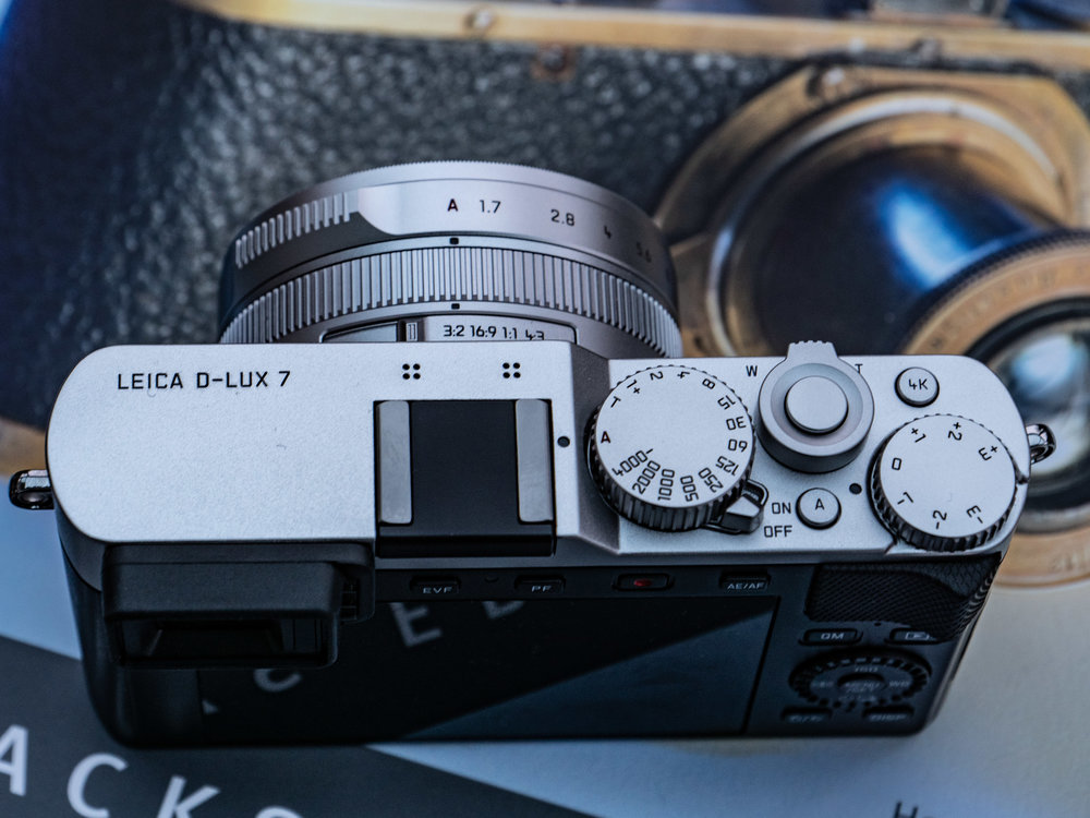 Sensible physical controls allow full manual access. The on-off switch is easy to use and clearly labelled while the shutter speed and exposure-compensation dials are better than electronic displays. The lens allows direct access to aperture, with an Auto button which, when used in conjunction with the A on the speed dial permits fully automatic operation. The aspect ratio on this camera can be changed from 3:2 to 16:9, 1:1 or 4:3. Note the 4K video button.