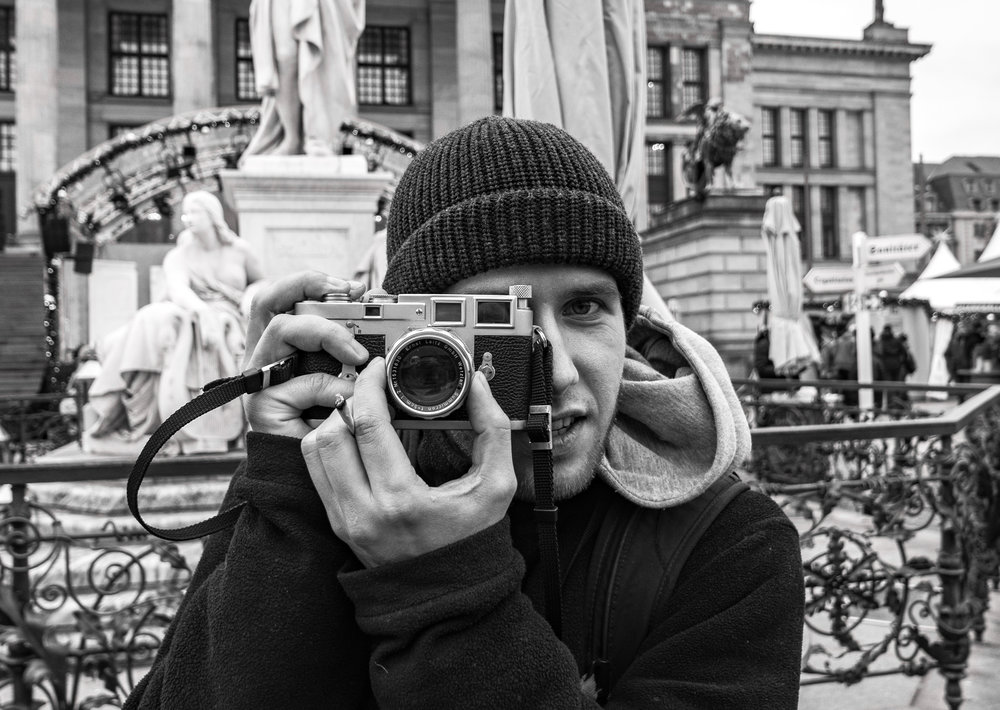 "Thomas from Austria with his ""new"" Leica M3 and classic 1957 rigid Summicron"