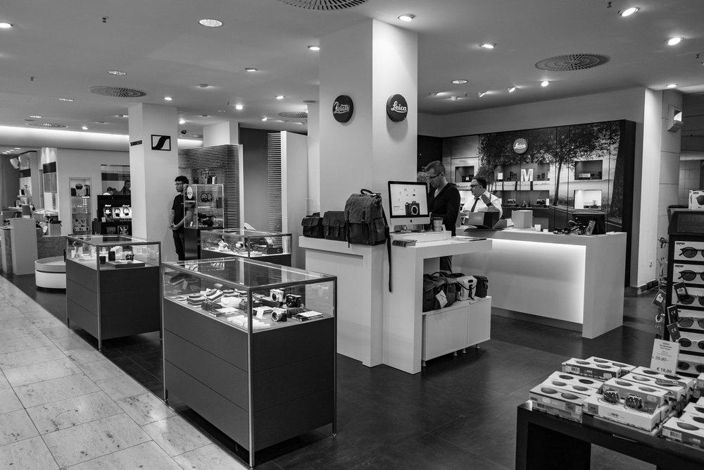 Leica Store in Berlin's Kaufhaus des Westens, KaDeWe, on Wittenberg Platz.