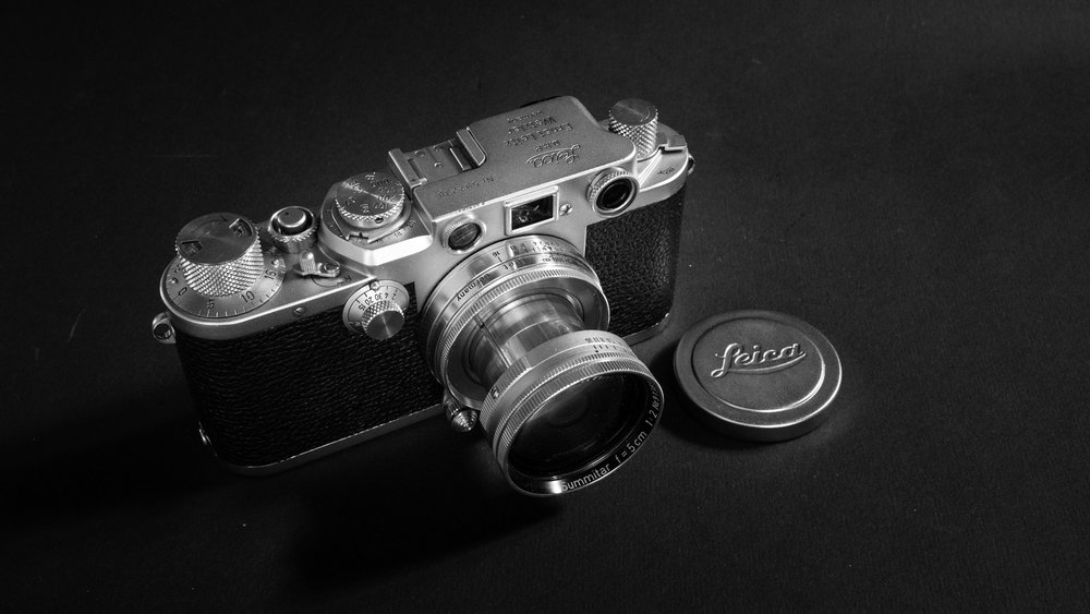"""Rangefinder technology was not new in the early 1930s when Leica introduced a two-window system — one for framing the shot, one for setting focus. The M3 brought a single window, a combined rangefinder and viewfinder. It was the """"Messsucher"""" which gave its initial to the continuing brand image. This IIIf is one of the later pre-M models. Image Claus Sassenberg."""