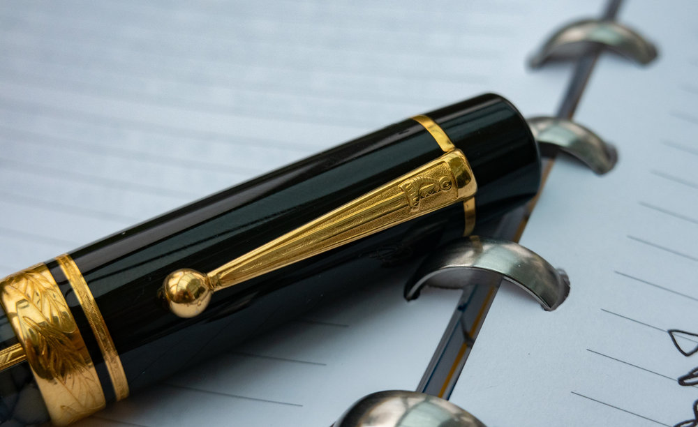 The pen is mightier than the sword….. and, fittingly, the Dumas edition bears the distinctive sword motif on the clip