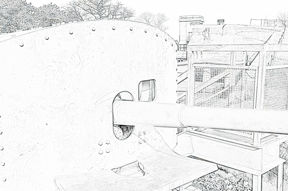 Line Drawing effect created w/Photoshop