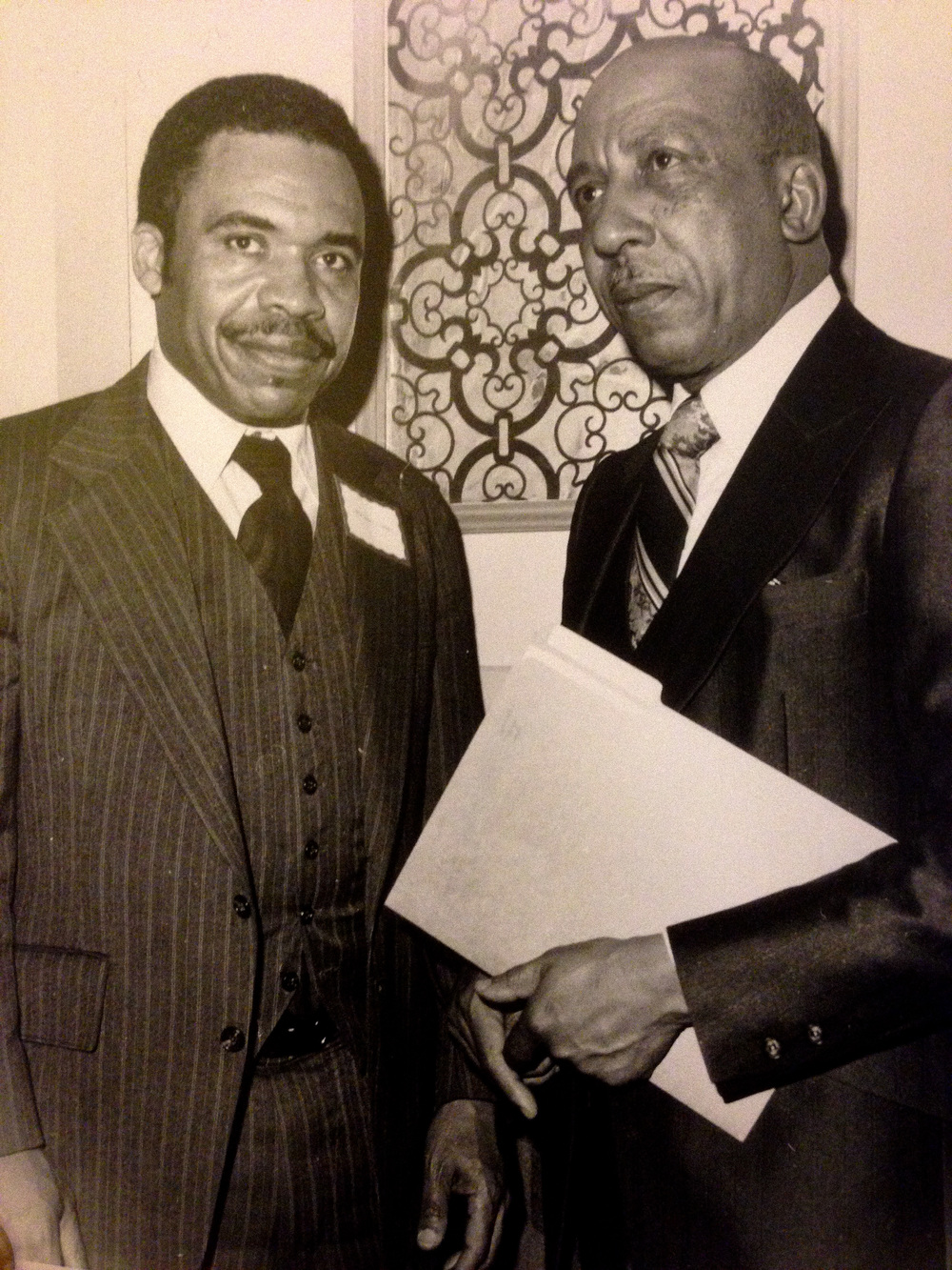 (Left-Kenneth A. Gibson, right- Charles L. Whigham)