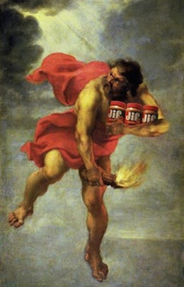 Prometheus stole fire from Mt. Olympus, and on his way out he nabbed some Jif
