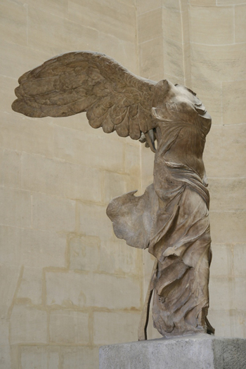 A photo of Nike of Samothrace: not as good as the real thing