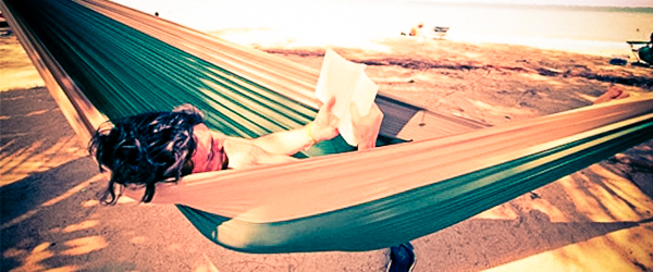 Ocean, beach, and palm trees. With a hammock strung between. How cliché of me (photo courtesy of Joshua T. Holm)