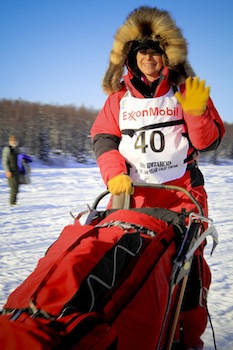 Jan Steves won the Red Lantern her first year in the Iditarod