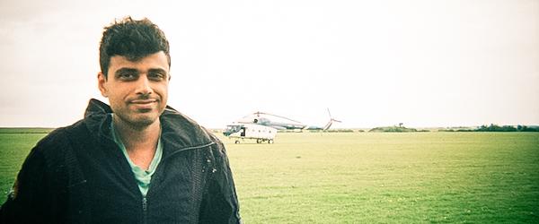 Pranav and the Russian Mi-8 heli