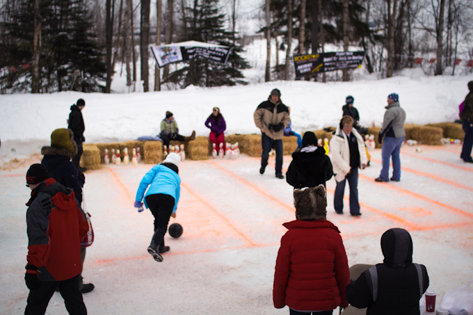 Ice bowling gets really interesting during spring thaw