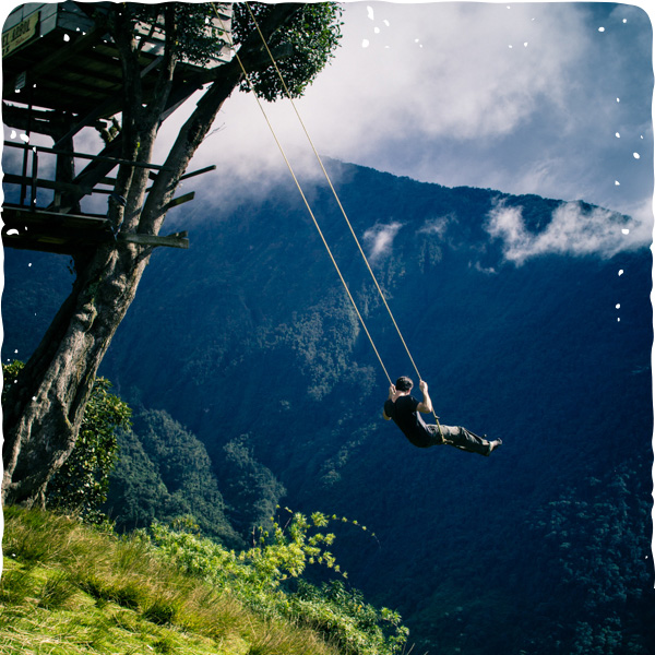 Follow Sparkpunk on Instagram! (Swing at the End of the World; Baños, Ecuador)
