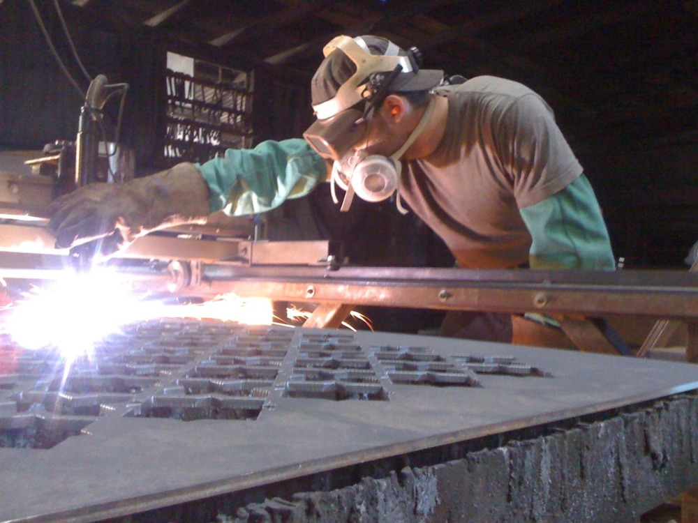 Me at my old job, workin' the plasma cutter