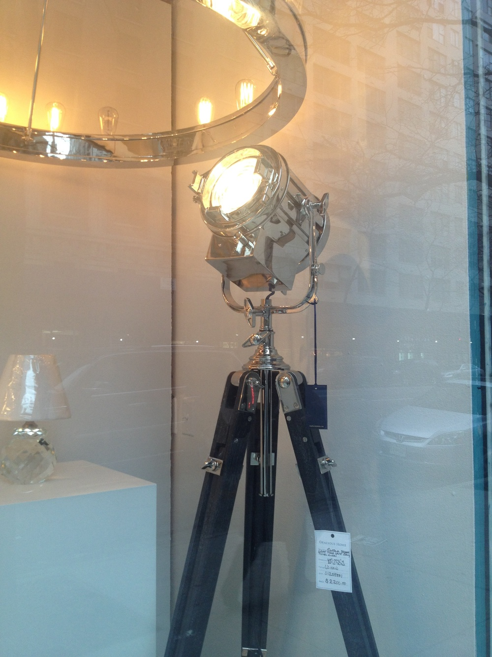 I saw this fixture walking by the window of Gracious Home the other day.