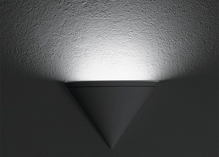 This very clean, modern uplight sconce is from Bega Lighting