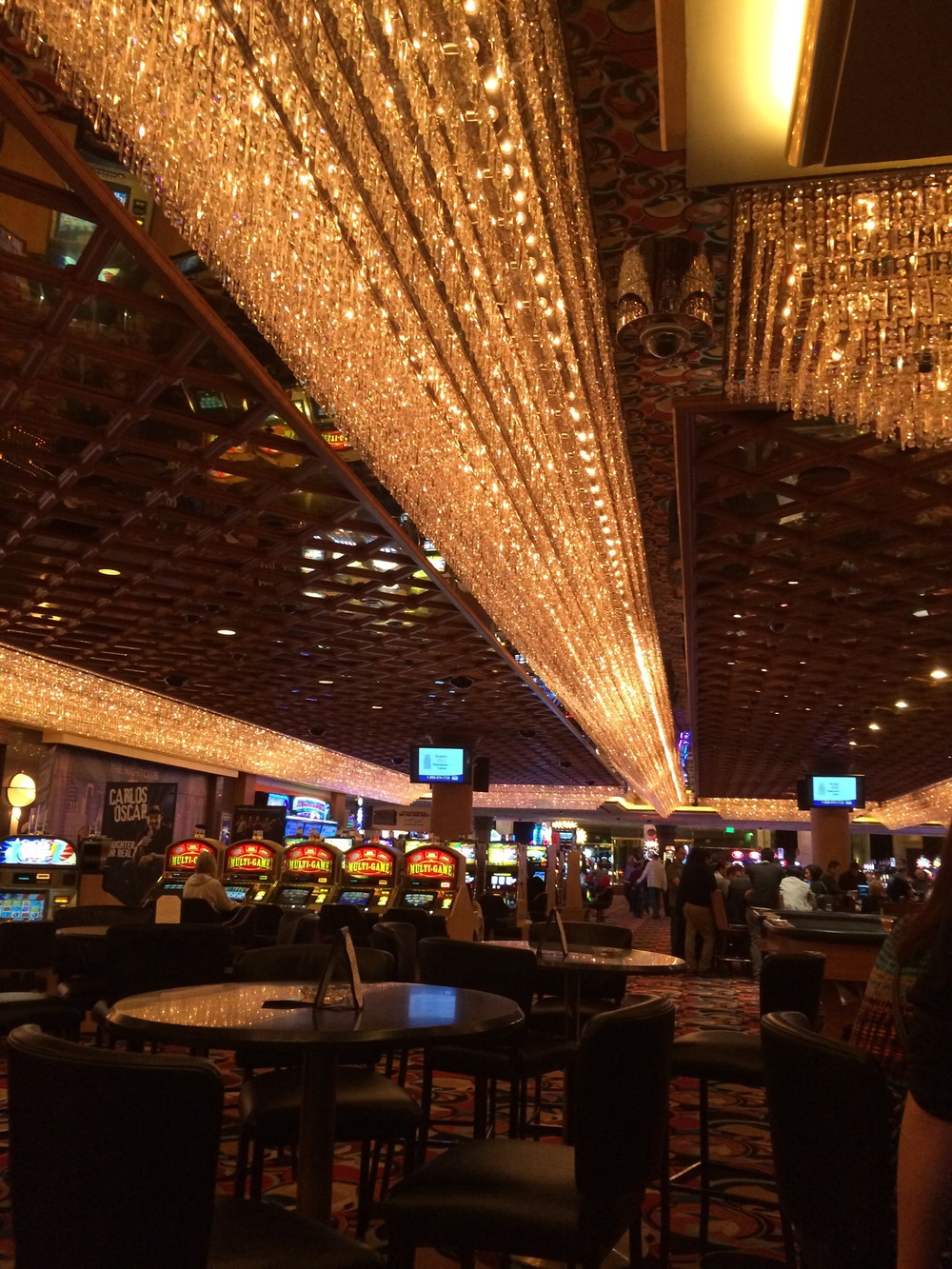 Las Vegas casinos looked and felt exactly as I expected them too. Lots of soft light glitz and sparkle.