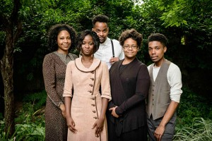 The cast of Rachel: Lauren Lattimore, Santoya Fields, Temesgen Tocruray, Bonita Jackson and Damone Williams. Photo by Stefano Giovannini.