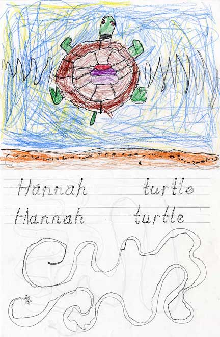 Turtle by Hannah, age 5
