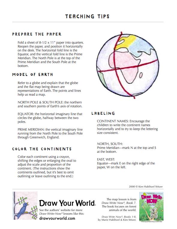Simple World Map: Draw-Write-Now 7 - Draw Your World - Draw & Write ...