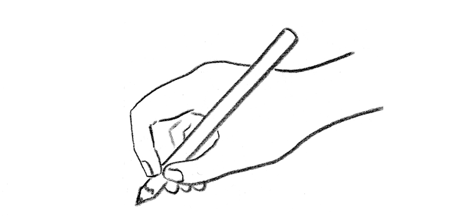 hold the pencil draw your world draw write together