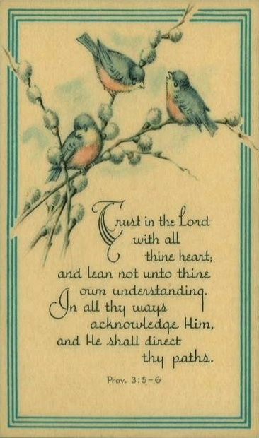 Proverbs 3: 5-6 Trust in the Lord