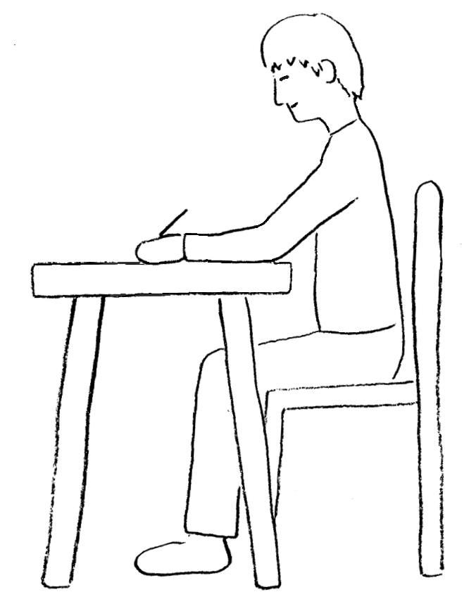 Posture While Drawing Or Writing Draw Your World Draw