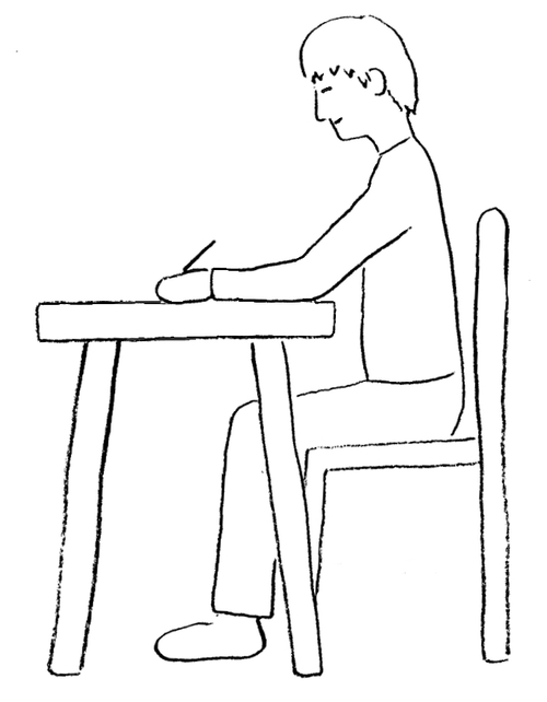 posture while drawing or writing draw your world draw write