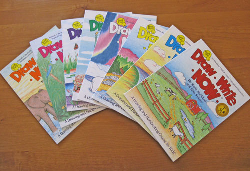 Draw Write Now, Books 1-8, lessons for drawing and writing with children.