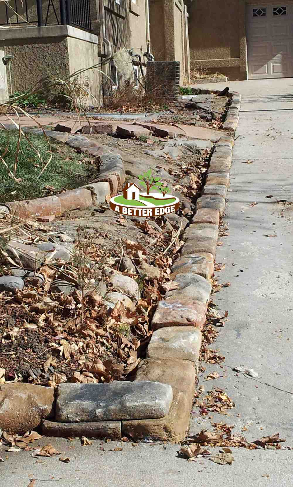Natural stone driveway - Natural stone garden edging ...