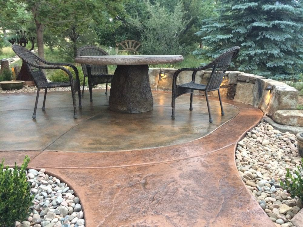 Specialty concrete   Seat walls, flatwork, tables and more   Learn More