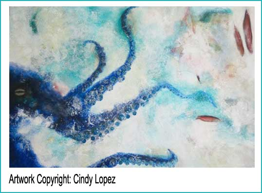 This is a large painting! Go say hello to Cindy Lopez.