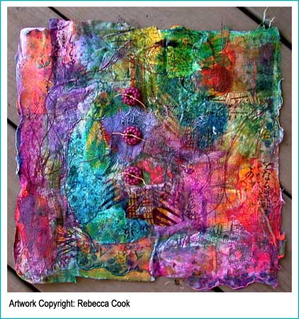 Gorgeous art quilt! Mixed media at it's finest.