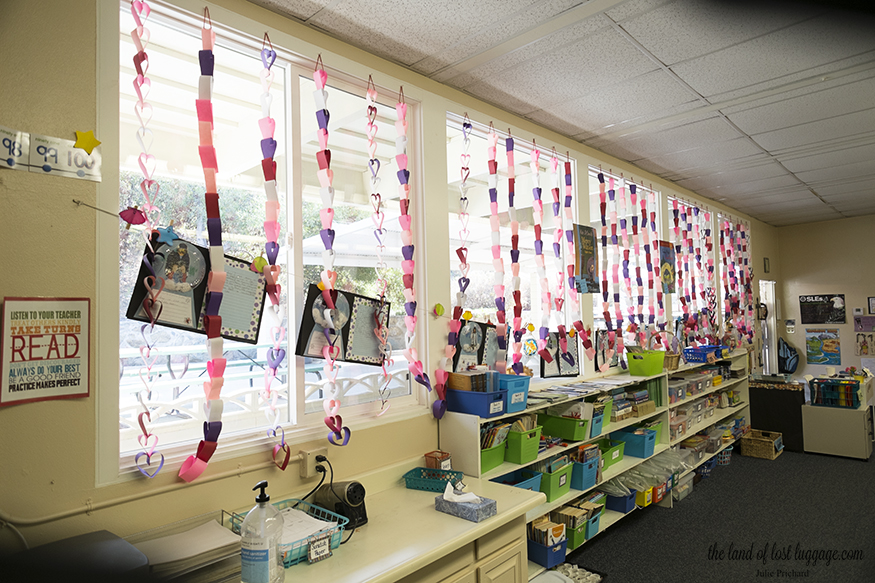 Edit: here they are hanging in the classroom windows! The kids love them... totally worth it.
