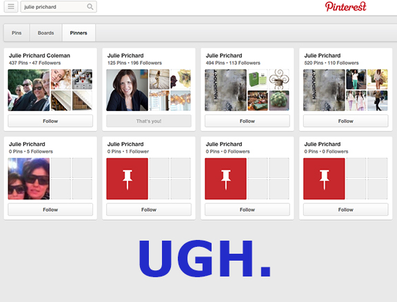 I DO NOT USE PINTEREST.